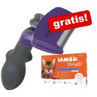 FURminator deShedding Tool för katt + 12 x 85 g  IAMS Naturally Cat Adult Mix